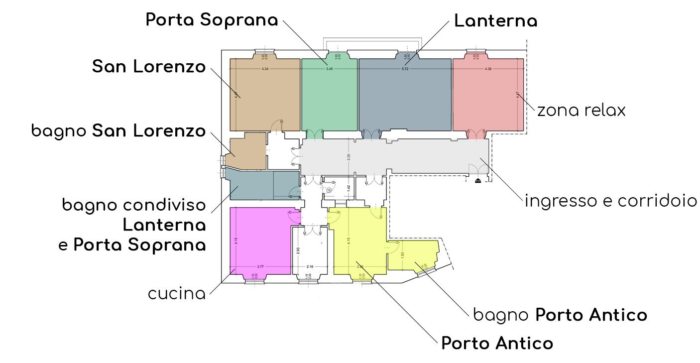 Piantina BnB Genova Centro